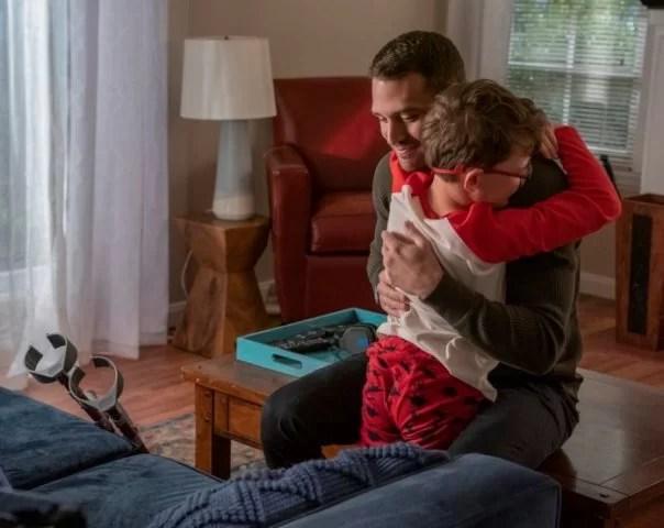 "9-1-1: L-R: Guest star Gavin McHugh and Ryan Guzman in the ""Fools"" episode of 9-1-1 airing Sunday, March 23 (8:00-9:00 PM ET/PT) on FOX. CR: Jack Zeman / FOX. © 2020 FOX MEDIA LLC."
