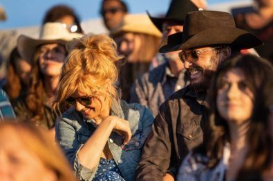 (L-R) Kelly Reilly as Beth Dutton and Cole Hauser as Rip Wheeler. Episode 3 of Yellowstone