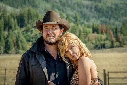 Yellowstone Season 3 Episode 7 - (L-R) Cole Hauser as Rip Wheeler and Kelly Reilly as Beth Dutton.