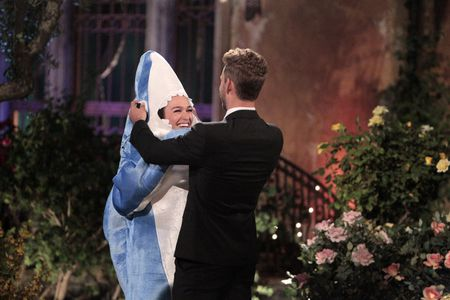 """The Bachelor The Greatest Seasons – Ever!"""" REVISIT NICK VIALL & Alexis Waters who jumped out of the limo in a shark costume on AUG. 31"""