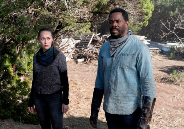 Alicia (Alycia Debnam-Carey) and Strand (Colman Domingo) Fear the Walking Dead Season 6.