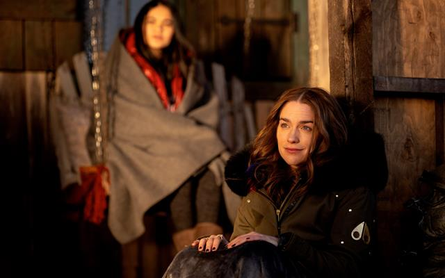 Nicole, played by Katherine Barrell, and Dominique Provost-Chalkley as Waverly Earp —stars on Wynonna Earp Season 4 Episode 5