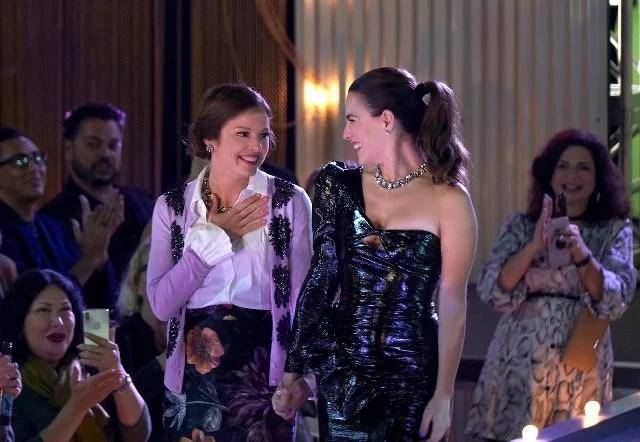 FILTHY RICH: L-R: Aubrey Dollar and Melia Kreiling in the