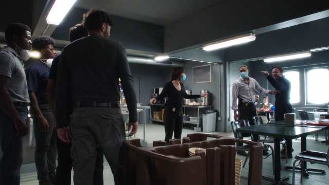 NCIS New Orleans Season 7 Episode 2 L-R Vanessa Ferlito as Special Agent Tammy Gregorio and Charles Michael Davis as Special Agent Quentin Carter