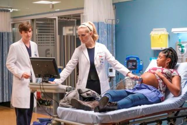 The Good Doctor Season 4 Episode 4 Photo - FREDDIE HIGHMORE, FIONA GUBELMANN, JASMINE ASHANTI