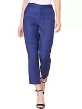 BB Dakota Navy Color Cropped Pants