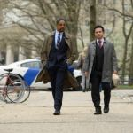 Donovan Christie, Jr as ADA Ken Kiehl and Freddy Rodriguez as Benny Colon in Bull Season 5 Episode 16 Photos