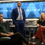 Jaime Lee Kirchner as Danny James, Christopher Jackson as Chunk Palmer, and Geneva Carr as Marissa Morgan in Bull Season 5 Episode 16 Photos