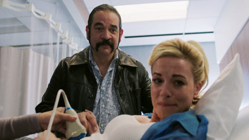 Kelly Anne & Pote at the hospital for pregnancy test in Queen of the South Season 5 Episode 7 -Photos