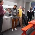 PETER MACKENZIE, ANTHONY ANDERSON, JEFF MEACHAM in Black-ish Season 7 Episode 21 Photos