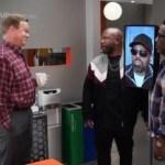 PETER MACKENZIE, WANYA MORRIS, SHAWN STOCKMAN in Black-ish Season 7 Episode 21 Photos