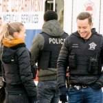 (l-r) Jason Beghe as Hank Voight, Tracy Spiridakos as Hailey Upton, Jesse Lee Soffer as Jay Halstead in Chicago PD Season 8 Episode 14