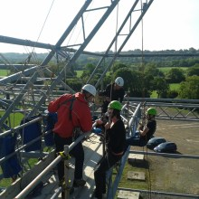 Abseiling training