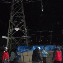 Pylon climbing