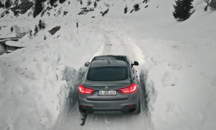 BMW X6 osvojio udaljene smrznute planine Rumunjske u potrazi za savršenom snimkom.