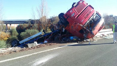 Photo of VUELCA UN TRÁILER EN LA A6