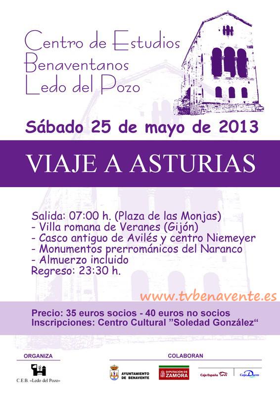 Cartel Viaje a Asturias ledo del pozo