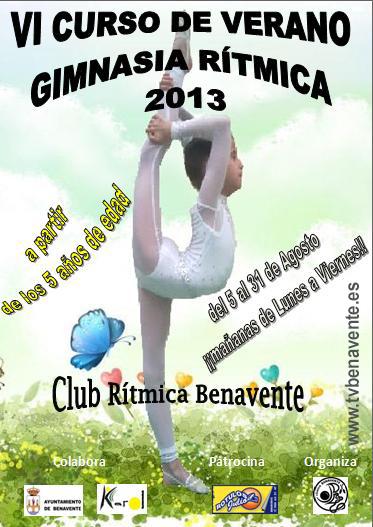 cartel curso de verano ritmica benavente 2013