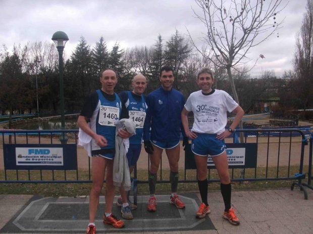 Participantes del Club Benavente Atletismo en  el Cross Popular de la Rondilla en Valladolid