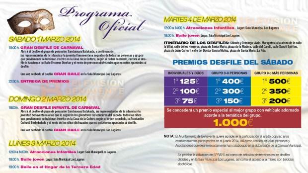 PROGRAMA CARNAVAL benavente 2014 tv