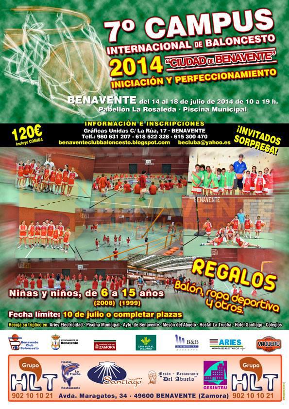 7 campus internacional de baloncesto 2014 ciudad de benavente