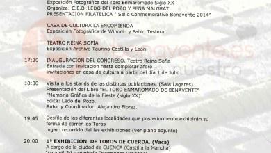 Photo of PROGRAMA XI CONGRESO DE TOROS DE CUERDA BENAVENTE 2014.
