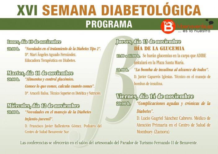 XVI Semana Diabetológica folleto2