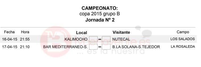 JORNADA 2 GRUPO B - copa veteranos futbol sala benavente
