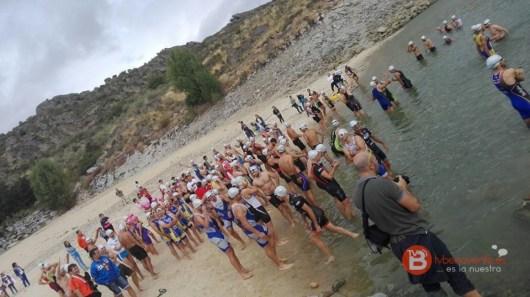 Salida triatlon playa ricobayo