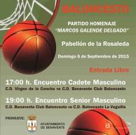 baloncesto benavente - partido homenaje