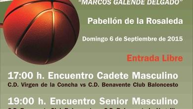 Photo of Dos partidos de baloncesto homenajearán a Marcos Galende Delgado en Benavente