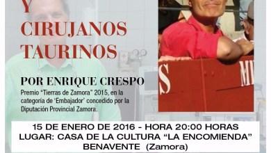 Photo of Charla-coloquio sobre Cirugía Taurina y Cirujanos Taurinos en Benavente