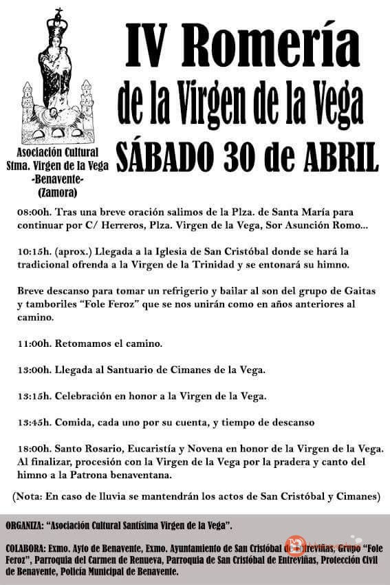 IV ROMERIA VIRGEN DE LA VEGA BENAVENTE