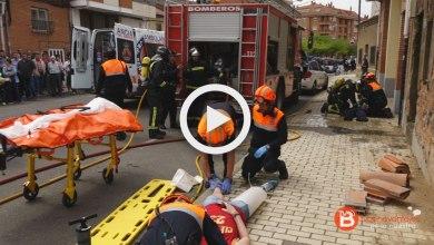 Photo of Labores de emergencia realizadas en el simulacro de Benavente