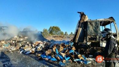 Photo of El incendio de un camión en Mombuey ha mantenido cortada la autovía