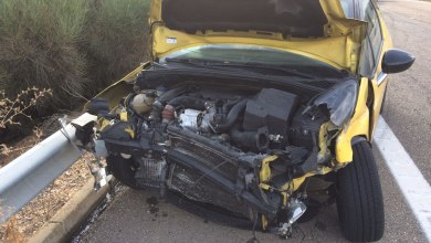 Photo of Ocho heridos en una colisión de tres coches en la A-52