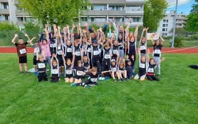 38 Athlet*innen gehen am UBS kids cup in Ostermundigen an den Start und mischen ganz vorne mit