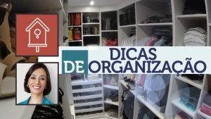 Dicas de organização para o seu armário