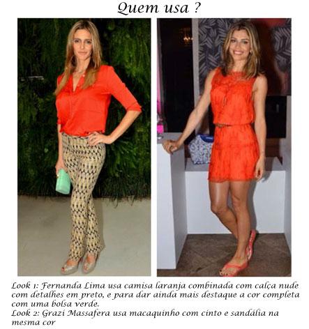 Tv Catia Fonseca moda cores vibrantes - laranja