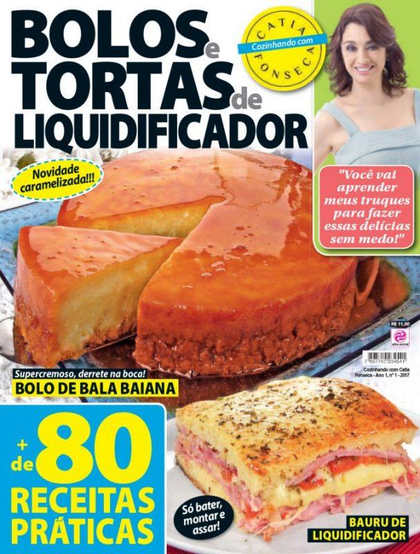 Tv Catia Fonseca receita Bolo de bala Baiana Revista da Catia - Bolos e tortas de liquidificador