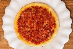 Cheesecake de gorgonzola e geleia de pimentão da chef Cinthya Maggi