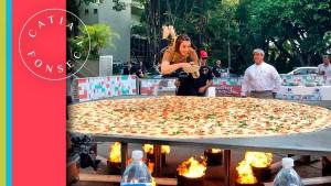 Bastidores do programa Melhor da Tarde da Band: maior Pizza do Brasil