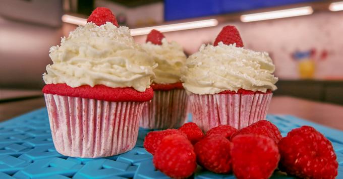 Cupcake de red velvet da chef Ana Paula Novaes