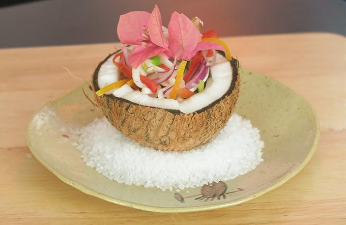 Ceviche de coco por Cozinha da Terra