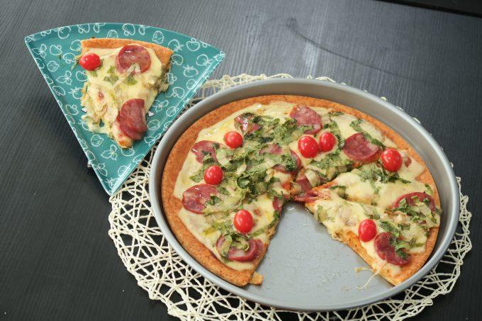 Pizza com pão amanhecido por Roberta Engels