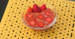 Mousse de morango saudável por Felipe Nonato