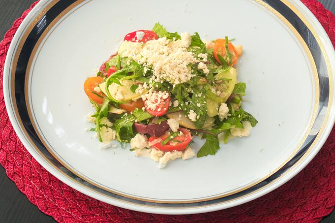 Salada de grãos do chef Francisco Pinheiro