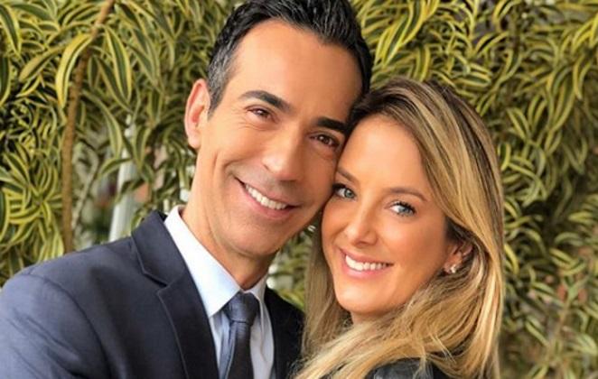 César Tralli quebra todos os protocolos da Globo e choca os telespectadores ao trocar carícias depois de programa ir ao ar
