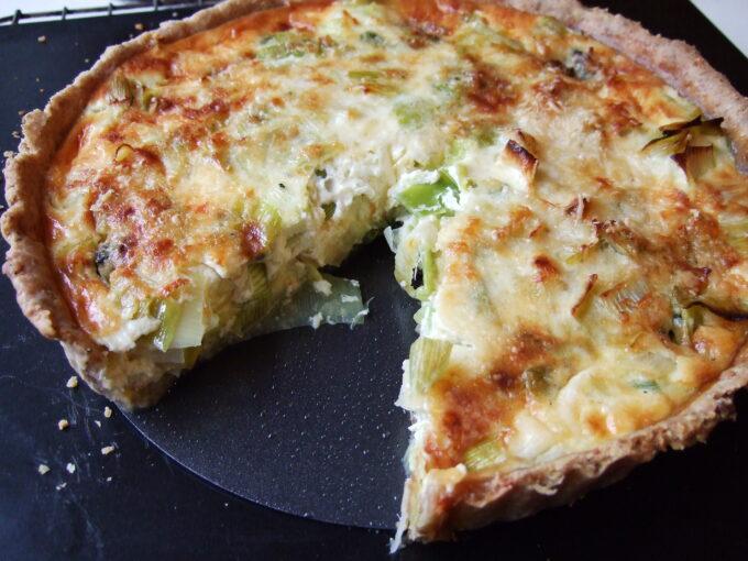 Quiche de alho poro com queijo por Filipe Nascimento