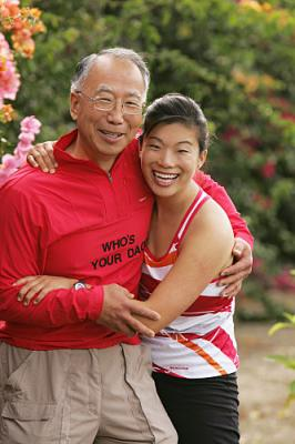 THE AMAZING RACE 12 on CBS - Teammates Ronald (left) and Christina Hsu (right), a father/daughter team from Tacoma, Wash.
